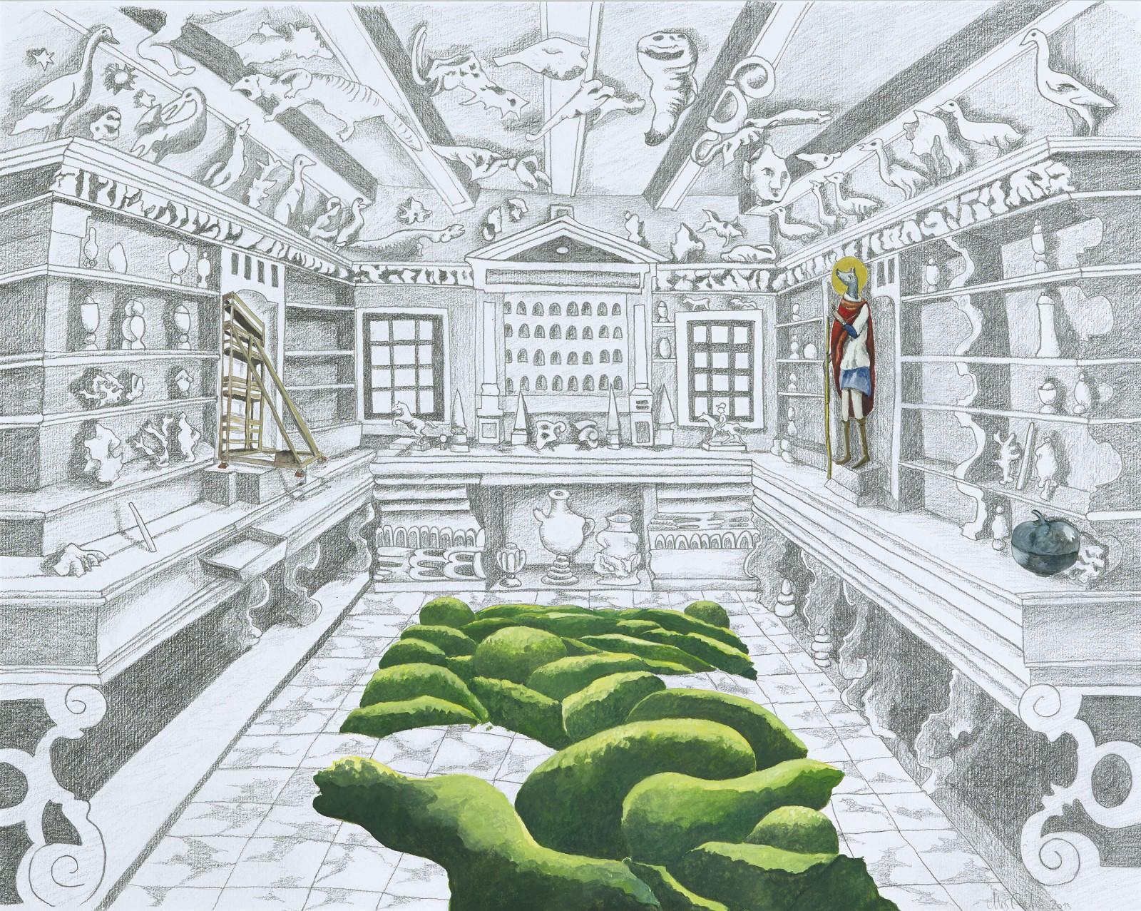Wunderkammer mit Cynocephalus