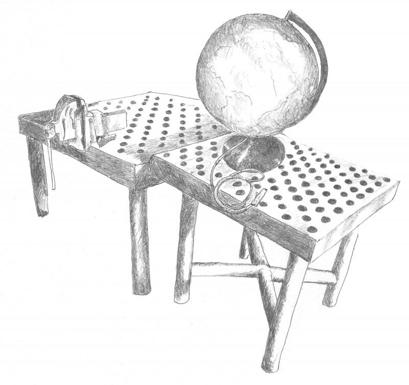 Tische mit Globus